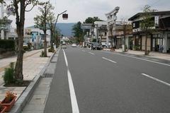 景観形成住民協定、穂高駅前通り.JPG